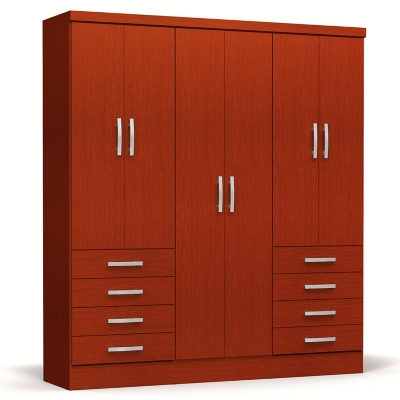 Closet Caoba 6 Puertas + 8 Cajones