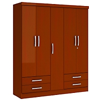 Closet Caoba 5 Puertas + 4 Cajones