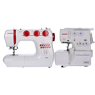 Combo Máquina Textil 3016 + Overlock 8002d