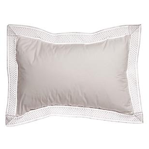 Cojin Relleno Macrame Blanco 30 x 45 cm