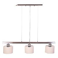 Basement Home Lámpara para Colgar 3 Luces Cuero
