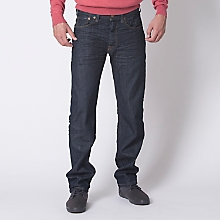 Jeans Straight Fit Corte Recto Azul