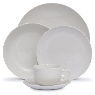 Juego de Vajilla Porcelana 30 Piezas Blanco