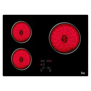 Encimera 3 Quemadores Vitrocerámica Eléctrica