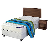 Cama Americana New Entree 1,5 Plazas Base Normal + Textil
