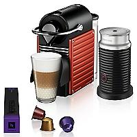 Cafetera Nespresso Pixie Red + Aeroccino