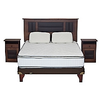 Cama Europea Innova 2 Plazas Base Normal + Muebles Lorraine + 2 Almohadas Viscoel�sticas