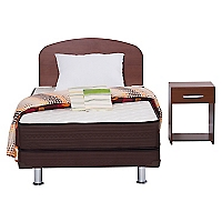 Cama Americana Dormistar 1.5 Plaza + Textil + Mueble 105 x 190 cm