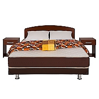 Cama Americana Dormistar 2 Plazas 150 x 190 cm + Textil + Mueble