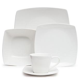Juego de Vajilla 30 Piezas Porcelana Cuadrado