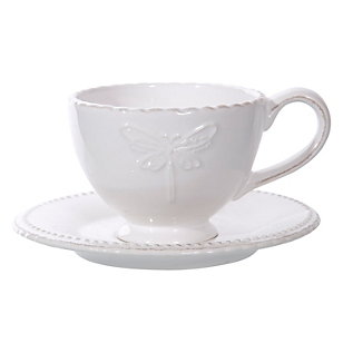 Taza de Té con Platillo Libélula