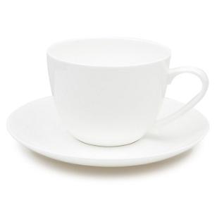 Taza Café con Platillo Blanco