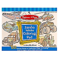 Jumbo Coloring Pad -Vehicles
