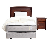 Box Spring Style 4 1,5 Plazas BN + Textil + Muebles