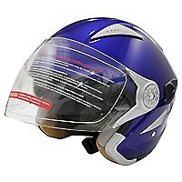 Casco Moto Azul