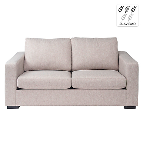 Rosen sof 2 cuerpos martina tela arena for Sofa cama de 2 cuerpos