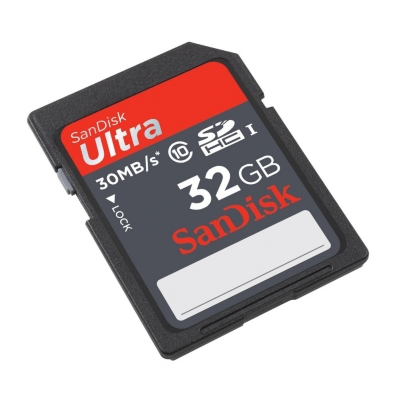 SANDISK ULTRA SDHC UHS-I CARD 32GB