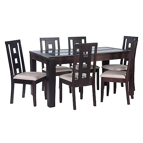 Rigal juego de comedor 6 sillas oleo for Comedores falabella chile