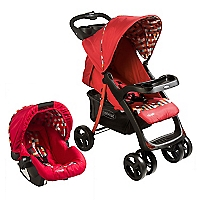 Coche Travel System H005 Rojo