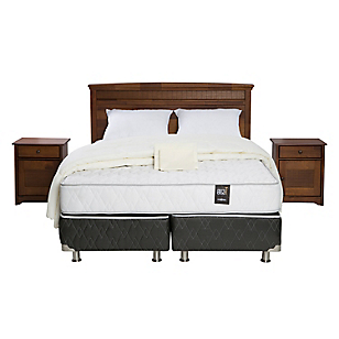 Box Spring Ergo T 2 Plazas Base Dividida + Muebles + Textil