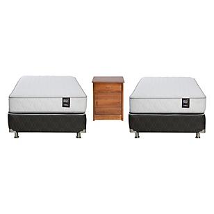 Dúplex Ergo T 1 Plaza Base Normal + Muebles