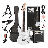 Pack Guitarra El�ctrica White + Amplificador 10W