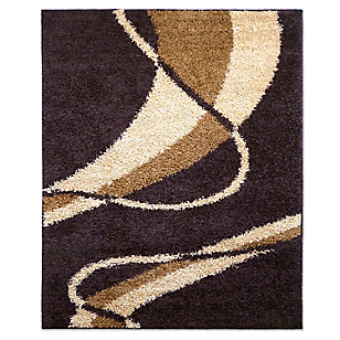 Alfombra Shaggy Louvre Chocolate 66 x 110 cm