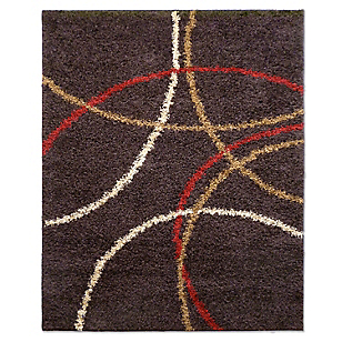 Alfombra Shaggy Prado Chocolate 66 x 110 cm