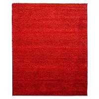 Alfombra Shaggy Rojo 133 x 180 cm