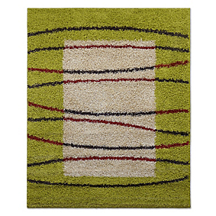 Alfombra Shaggy Moma Verde Pistacho 133 x 180 cm