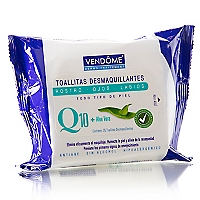 Toallitas Desmaquillantes Q10 + Aloe Vera