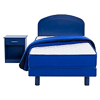 Cama Americana Dormistar Azul 1.5 Plazas + Textil + Muebles