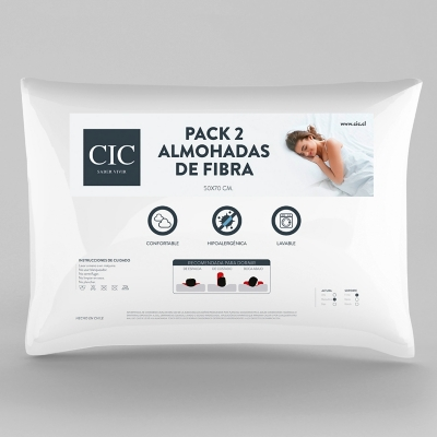 Pack 2 Almohadas 50 x 70 cm