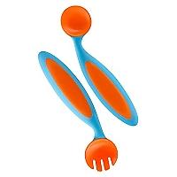 Boon Set Cuchara y Tenedor Moldeables Bicolor
