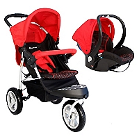 Coche Travel System Jogger Red Black OH-01