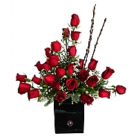 Arreglo 25 Rosas en Fanal de Vela