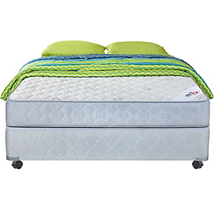 Cama Americana Mica 2 Plazas Base Normal + Textil