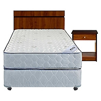 Cama Americana Mica 1,5 Plazas Base Normal + Muebles
