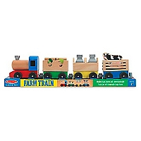 Wooden Farm Train