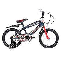 Bicicleta Aro 16 gris/rojo