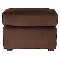 Pouf Cl�sico Felpa Chocolate