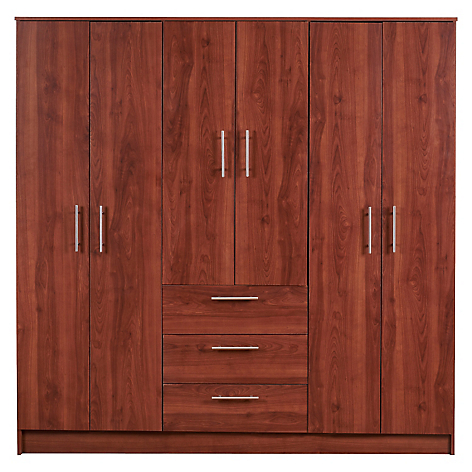 Cic cl set 6 puertas 3 cajones for Tipos de closet para dormitorios