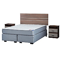 Box Spring Therapedic 2 Plazas Base Dividida + Muebles Milano