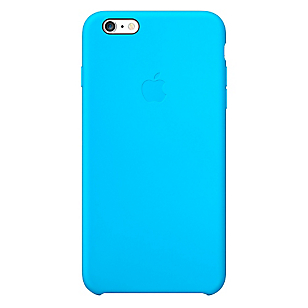 Carcasa iPhone 6 Plus silicona Celeste