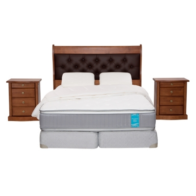Box Spring Dual Sense 2 Plazas BD + Textil + Muebles