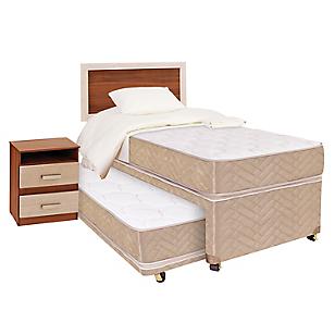 Diván Cama 1,5 Plazas + Textil + Muebles Bamboo