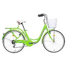 Bicicleta City Rider Verde Fluor