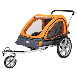 Carro Para Bebe Naranja/Gris