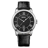 Reloj Hombre Negro Cuero 1512974