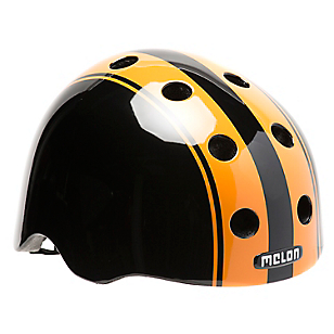 Casco Double Naranjo/Negro